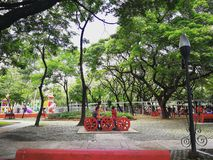 Cercle de mémorial de Quezon City photos stock