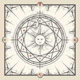 Cercle de magie d'alchimie illustration stock
