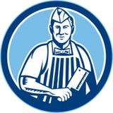 Cercle de Meat Cleaver Knife de boucher illustration libre de droits