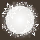 Cercle de Noël de Brown Image libre de droits