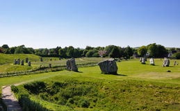 Cercle de pierre d'Avebury Images stock