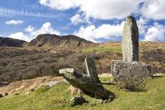 Cercle de pierre d'Uragh sur la péninsule de Beara Images libres de droits