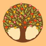 Cercle de pommier stylisé Photos libres de droits
