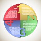 Cercle de progrès de papier de couleur Photos stock