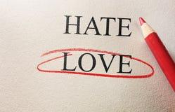 Cercle de rouge d'amour Photos libres de droits