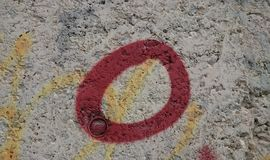Cercle de rouge de graffiti Image libre de droits