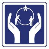 Cercle de signe de durée illustration stock