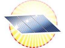 Cercle de Sunpanel Images libres de droits