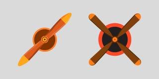 Cercle de technologie de rotation de refroidisseur de ventilateur d'avion d'air d'équipement de ventilateur de vent de vecteur de Images libres de droits
