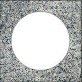 Cercle de trame de granit Image stock