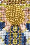cercle de travail de perle et de point de croix Photos libres de droits