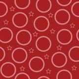 Cercle de vecteur et modèle sans couture de forme d'étoile illustration de vecteur