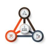 Cercle de vecteur infographic Image stock