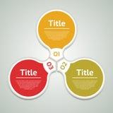Cercle de vecteur infographic Calibre pour le diagramme, le graphique, la présentation et le diagramme Concept d'affaires avec tr illustration de vecteur