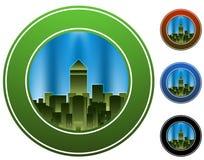 Cercle de ville Photos libres de droits