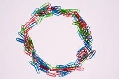 Cercle del clip de la oficina Imagen de archivo libre de regalías