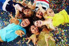 Cercle des amis Photos stock