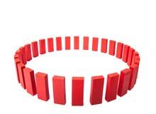 Cercle des blocs constitutifs rouges Photos libres de droits