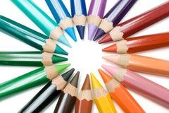 Cercle des crayons Photo libre de droits