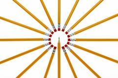 Cercle des crayons Photographie stock