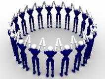 Cercle des gens Images libres de droits