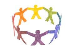 Cercle des gens colorés Image libre de droits
