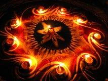 Cercle des lampes Photo libre de droits