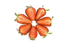 Cercle des parts de fraise Image libre de droits