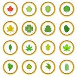 Cercle différent d'icônes de feuilles illustration libre de droits