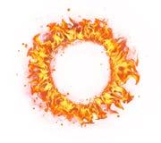Cercle du feu d'isolement sur le fond blanc photographie stock libre de droits