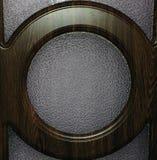 Cercle en bois de Brown sur une surface en verre Photos libres de droits
