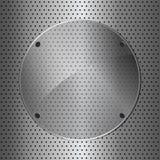 Cercle en métal et en verre Photographie stock libre de droits