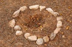Cercle en pierre Photo stock