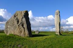 Cercle en pierre d'Avebury Images libres de droits