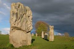 Cercle en pierre d'Avebury Image stock