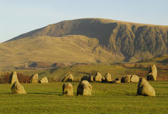 Cercle en pierre de Castlerigg Photo stock