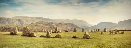 Cercle en pierre de Castlerigg Image libre de droits