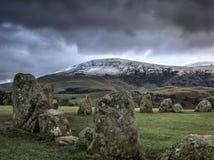 Cercle en pierre de Castlerigg Photographie stock libre de droits