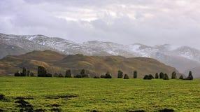 Cercle en pierre de Castlerigg, Cumbria, l'hiver   Photographie stock libre de droits