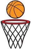 Cercle et bille de basket-ball Images stock