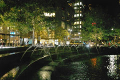 Cercle et fontaine de Columbus de New York. Photo stock