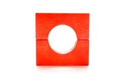 Cercle et grand dos avec les blocs en bois Photographie stock