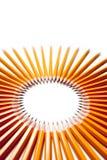 Cercle fait de crayons images stock