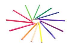 Cercle fait de crayons Photo stock