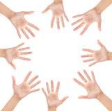 Cercle fait de mains Image libre de droits