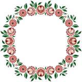 Cercle folklorique 3 de peinture de vecteur Images stock