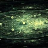 Cercle foncé de Grey Little Planet Concept In avec des cercles Photos stock