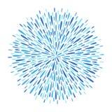 Cercle, forme ronde de feu d'artifice faite d'étincelles, rayons, baisses illustration stock