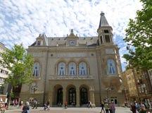 Cercle Gemeentelijk op het vierkant van Plaatsd ` Armes, de Stad van Luxemburg royalty-vrije stock foto's