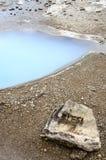 Cercle Geysir-D'or du l'Islande-Haukadalur-Blesi Images libres de droits